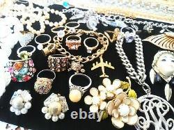 185+ Vintage Jewelry Lot Hobe Panetta KJL Florenza Weiss 925 26 Makers ++C18
