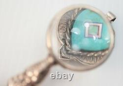 2 Antique Sterling Silver Chatelaine Miniature Magnifying Glasses