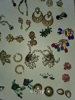 50+ Lot Vintage Costume Jewelry, Signed Pieces
