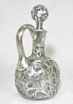 Alvin Sterling 1000 Fine Overlay Cut Glass Decanter