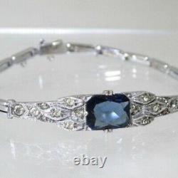 Antique Art Deco Sterling Silver Wilhelm Becker Paste Bracelet