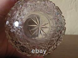 Antique English Sterling Silver Repousse 1894 Cut Glass Perfume Bottle