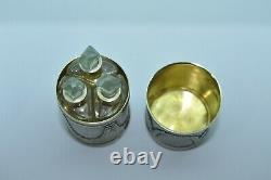 Antique French Sterling Silver Three Perfume Bottles Set
