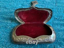 Antique Sterling Silver Arabesque/Art Nouveau Patterned Eye Glasses Case