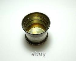 Antique TELESCOPING Collapsing WALLACE Sterling Silver Travel Cup Drinking Glass