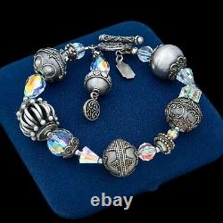 Antique Vintage Deco Mid Century Style Sterling Silver Byzantine Bali Bracelet