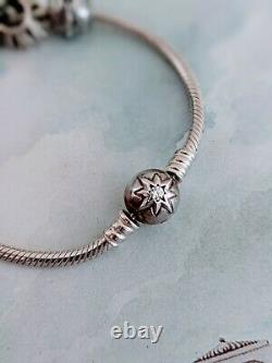 Authentic/Genuine Pandora Sterling Silver Bracelet with Charms/Beads
