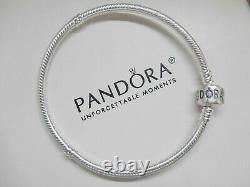 Authentic Pandora Bracelet Silver Blue Love Mom Wife Heart European Charm