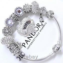 Authentic Pandora Charm Bracelet Silver Wife Love Story European Beads. NIB