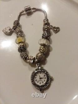 Authentic Persona BRACELET WithWRKING WATCH PANDORA Bead Charm with POUCH send size