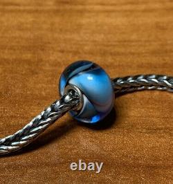 Authentic Trollbeads Light Blue/purple Armadillo Class Core Unique Bead New