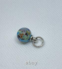 Authentic Trollbeads Murano Glass Bead Flowers Daydream Blossom Dangle HTF Rare