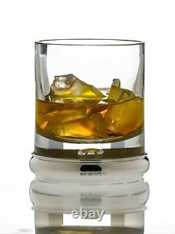 BROADWAY & Co Silver & Crystal TUMBLER Glass 4