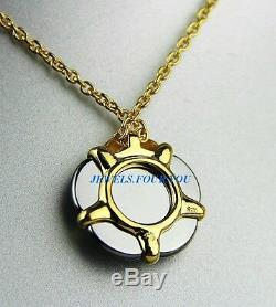 Baccarat Jewelry B Flower Vermeil Sterling Silver Green Mordore Small Necklace