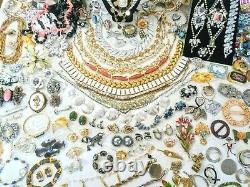 Big 170pc Vintage Signed Jewelry Lot 20 Designers Juliana Schreiner Warner ++A15
