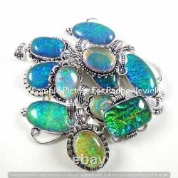 Dichroic Glass 10 PCS Wholesale Lots 925 Sterling Silver Plated Handmade Pendant