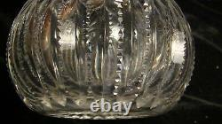 Early 20th Cent. Cut Glass Perfume Cologne Bottle with Sterling Silver Stopper