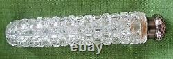 English Silver Gorham American Brilliant Cut Glass Lay Down Perfume Bottle