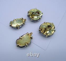 Estate Lovely MARIQUITA MASTERSON Sterling Silver Spotted Glass Pierced Earrings
