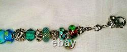 Excellent condition! TROLLBEADS Under the Sea Charm Bracelet-Blue & Green
