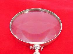 Frigast Denmark Sterling Silver Danish Crown 4 Large Magnifying Glass UE-7