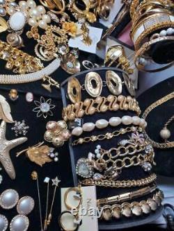 Gold & Pearls Estate Vtg Now High End Jewelry Lot ART BSK BOUCHER NOS Ramaud