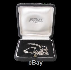 Hermes Shiny Sterling Silver 925 Confettis Charm Necklace