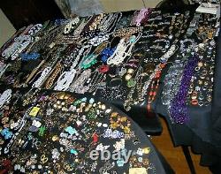 Huge Lot Vintage To Now Costume & Silver 925 Jewelry 50 Pounds All Wearable