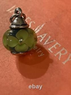 JAMES AVERY Green Conical FINIAL ART GLASS BEAD CHARM Cut LOOP Gift Box Retired
