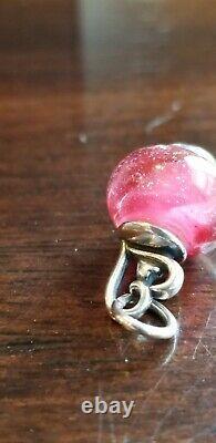James Avery Retired Joy Of My Heart Finial Art Glass Bead Charm