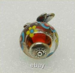 James Avery Retired Sterling Dragonfly Floral Glass Finial Charm Lb-c2193