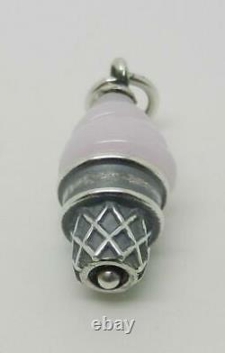 James Avery Retired Sterling Pink Art Glass Ice Cream Cone Finial Charm Lb-c2140