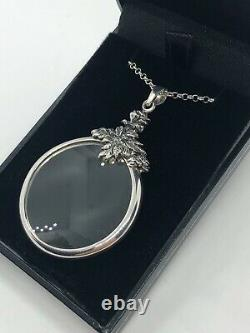 Magnifying Glass Silver 925 Necklace 24 Inch Chain Pendant Boxed Gift