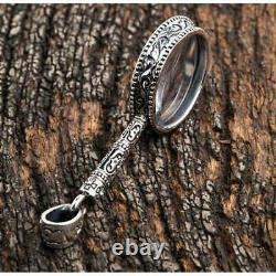 Magnifying Glass Silver Pendant
