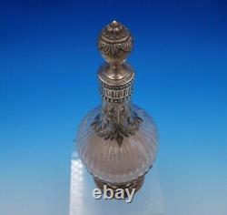 Marie Antoinette by Boulenger French Sterling Silver Glass Liquor Bottle (#4914)
