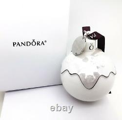 NEW PANDORA Limited 2018 Christmas Holiday Porcelain Ornament With Gift Box