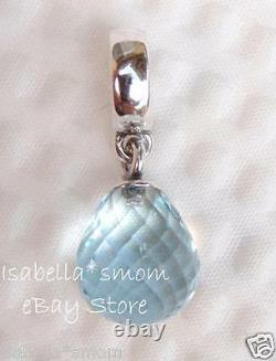 NEW Pandora ICE BLUE Faceted Beauty MURANO GLASS Dangle/HANGING CharmBead WINTE