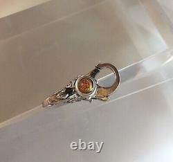 NEW RETIRED Trollbeads Mexico Lock # 10108 Dichroic Glass Sterling Silver Auth