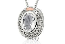 NEW Welsh Clogau Silver & Rose Gold Looking Glass Pendant (22) £50 OFF