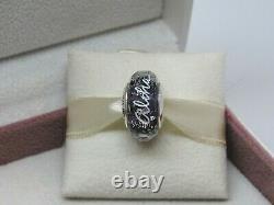 New with Box Pandora Aloha Purple Shimmer Hawaii Murano Glass Bead Charm