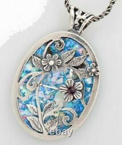 Pendant 925 Sterling Silver Ancient Roman Glass Original Gift