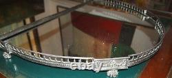 Plateau 18 C Sterling English 3 Section Very Rare Gorgeous Details-47.5x22