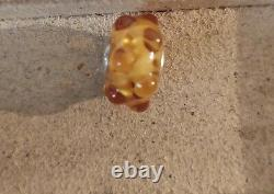Preloved Trollbeads Glass Bead, Amber Waters (event)