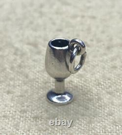 Rare/Retired James Avery Sterling Silver Wine Glass Goblet Charm