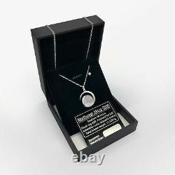 Real Moon Dust Meteorite Necklace, With a Sample from Lunar Meteorite NWA 5000