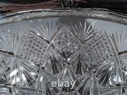 Reed & Barton Bowl 148 American Brilliant Cut Glass ABC & Sterling Silver