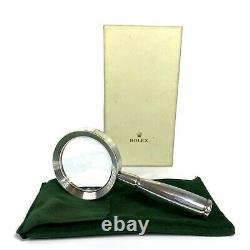 Rolex Hallmark Solid Sterling Silver. 925 Vintage Rare Magnifying Glass 76 PD