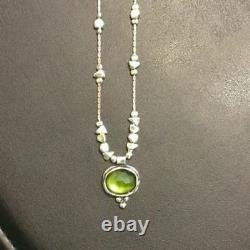 SILPADA N1461 Sterling Silver Green Glass Necklace GORGEOUS