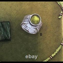 Silpada Green Glass Sterling Silver Ring Sz 9 R1463 Beautiful