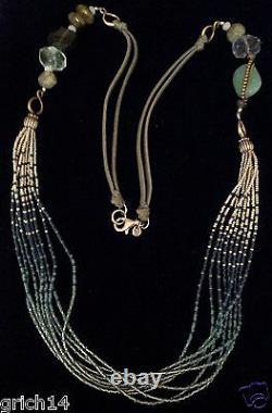Silpada Ss Chalcedony Labradorite Fluorite Brass Quartzite Glass Necklace N2069